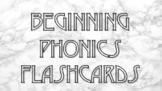 Beginning Phonics Flashcard Printables