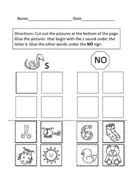 Pre-K, Kinder, First Grade Phonics Pictures Sorts Long & Short Vowels,Diagraphs