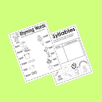Beginning Phonics Printables! Perfect for beginning of year!