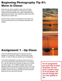 Beginning Photography Tips and Assignments
