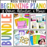 Beginning Piano MEGA BUNDLE for Elementary Piano Students in Piano Lessons