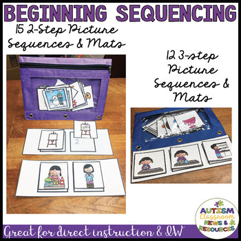 Beginning Picture Sequencing: Discrete Trials & Independent Work with Tutorial
