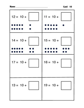 Beginning Place Value Unit