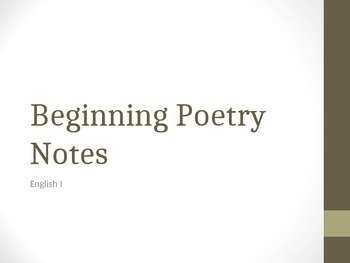 Beginning Poerty Notes PwPt