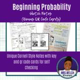 Beginning Probability Sketch Notes (Bonus QR Code Cards)