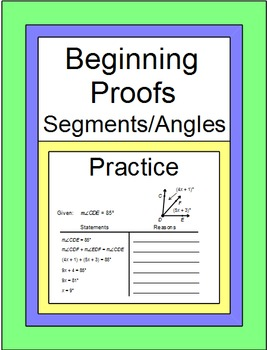 Beginning Proofs (Line Segments and Angles) with SCOOT Game