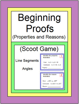 Beginning Proofs (Properties and Reasons) - SCOOT Game or Walk Around