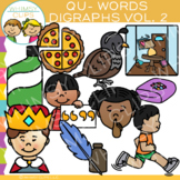 Digraphs Clip Art: Beginning QU Words Clip Art {Volume TWO}