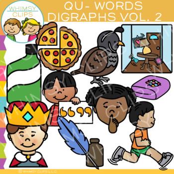 Digraphs Clip Art: Beginning QU Words Clip Art {Volume TWO}