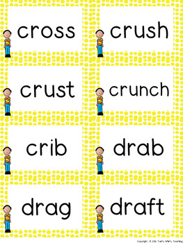 Beginning R-Blend Flashcards and Center Activities