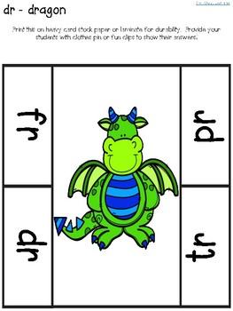 Beginning R-Blend Literacy Clip Center Fun!