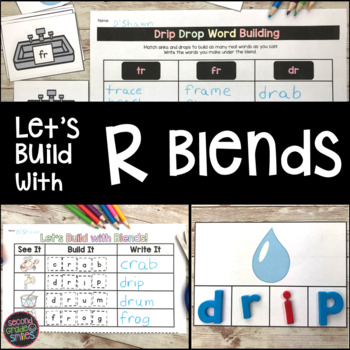 R Blends Word Work (br, cr, gr, fr, tr, dr)