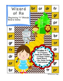Consonant Blends - Beginning R Blends Board Game- The Wiza