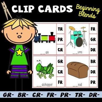 Beginning R-Blends Clip Cards