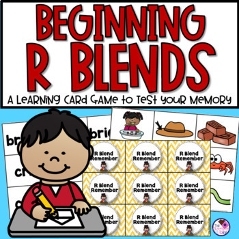 Beginning R Blends Memory Game