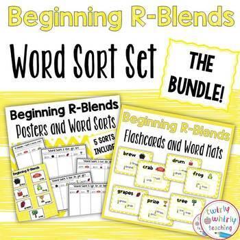 Beginning R Blends Word Sort Bundle