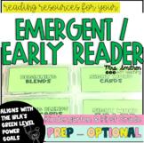 Emergent Early Reader Activities K First Grade Reading {IR