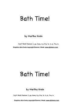Beginning Reader:  Bath Time