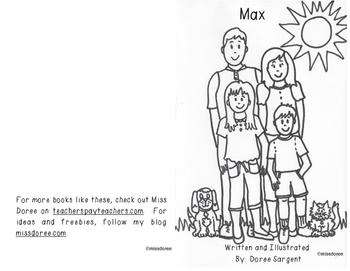 """Beginning Reader Book: """"Max"""""""