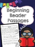 Beginning Reader Comprehension Passages