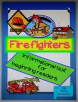 Beginning Reader Firefighter Informational Text Reproducible Little Book