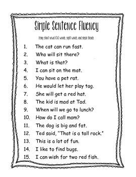Beginning Reader Fluency Builder