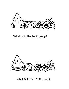 Beginning Reader: Food Groups
