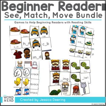 Beginning Reader Games- See, Match, Move Bundle