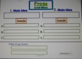 Nonfiction Main Idea & Vocabulary Comprehension with Frogs by Gail Gibbons