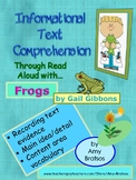 Nonfiction Main Idea & Vocabulary Comprehension with Frogs