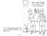 "Beginning Reader Book: ""Jon and Todd"""