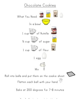 Beginning Reader Recipe - Chocolate Cookies