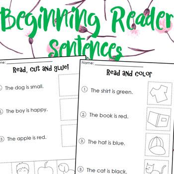 Beginning Reader Sentences