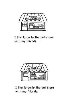 Beginning Reader:  The Pet Store