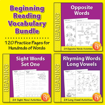 Beginning Reader Vocabulary {Bundle}