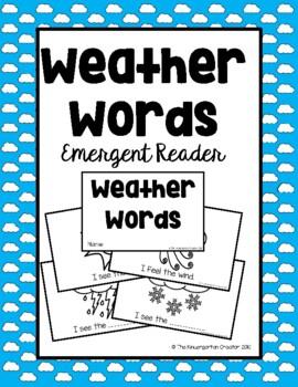Beginning Reader - Weather Words