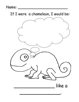 Beginning Readers Book - If I Were a Chameleon/OWL Unit 4-Colors