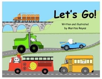 """Beginning Readers Book """"Let's Go!"""""""