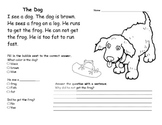 Beginning Readers Comprehension