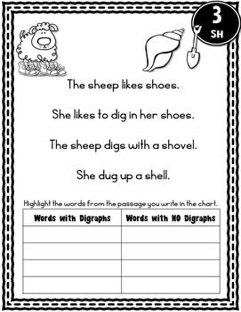 Beginning Readers - Digraph Passages