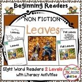 Sight Word Beginning Readers - Fall Leaves