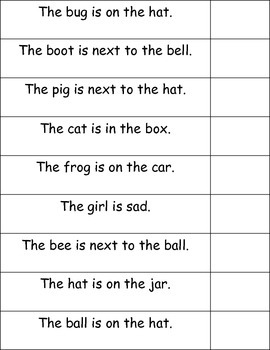 """""""Beginning Readers- Home Practice Matching Game """""""