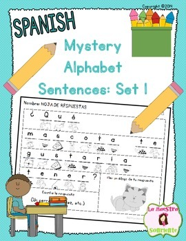 Beginning Readers: Mystery Sentences: Set 1 (Spanish)