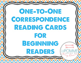 Beginning Readers One-to-One Correspondence Cards Reading Early Special Educatio
