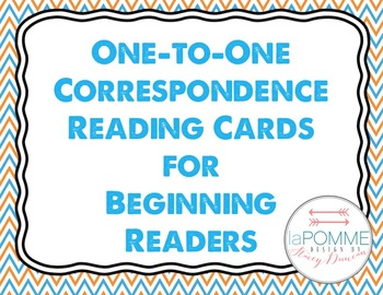 Beginning Readers One-to-One Correspondence Cards Reading