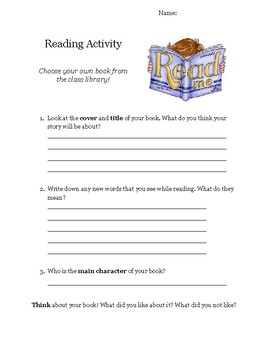 Beginning Reading Activity