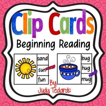 Beginning Reading Clip Cards