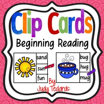 Beginning Reading Clip Cards
