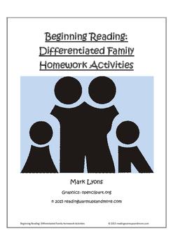 Beginning Reading: Differentiated Family Homework Activities