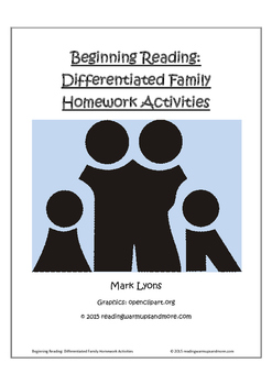 Beginning Reading: Differentiated Family Homework Activities